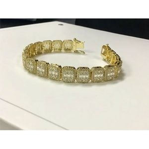 Harlembling  Lab Diamond Baguette Tennis Bracelet